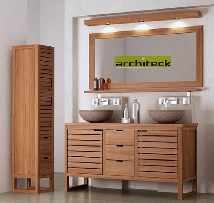Miroirs teck / étagères teck / bandeaux spots teck ...
