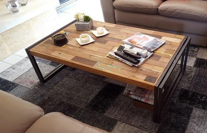 table basse samudra 1 plateau 5 tailles vieux bois de bateaux m tal architeck meubles. Black Bedroom Furniture Sets. Home Design Ideas