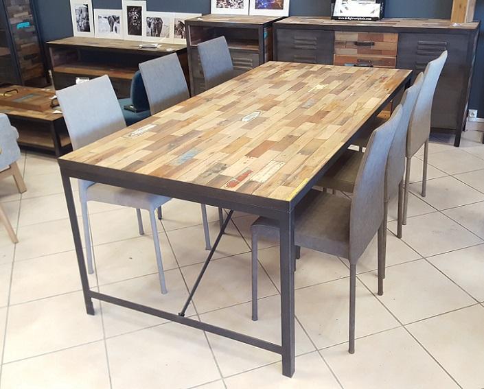 "table ""indus"" teck recyclé - architeck - meubles ethnicraft (teck"